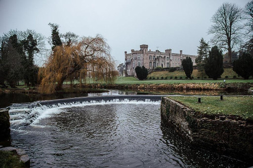 The weir at Bellingham Castle.