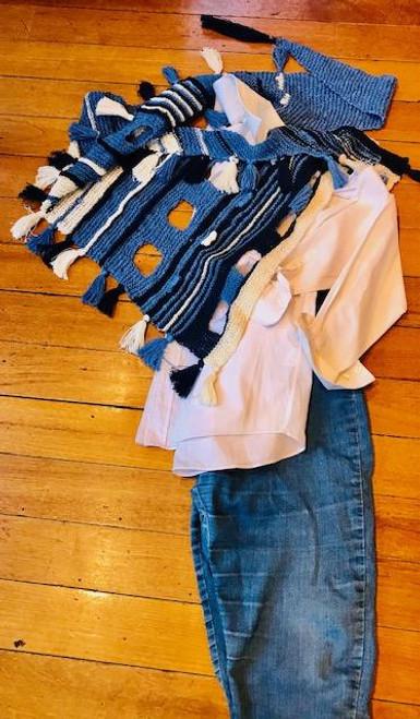 Denim/Navy/Cream Great with Jeans/White Shirt