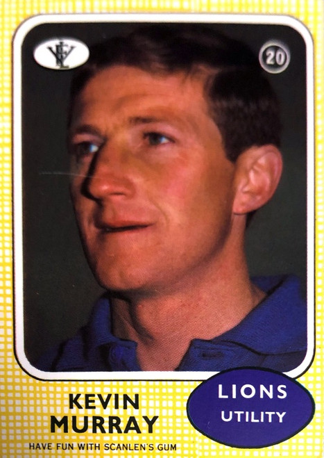 1972 VFL Scanlens #20 KEVIN MURRAY Fitzroy Lions