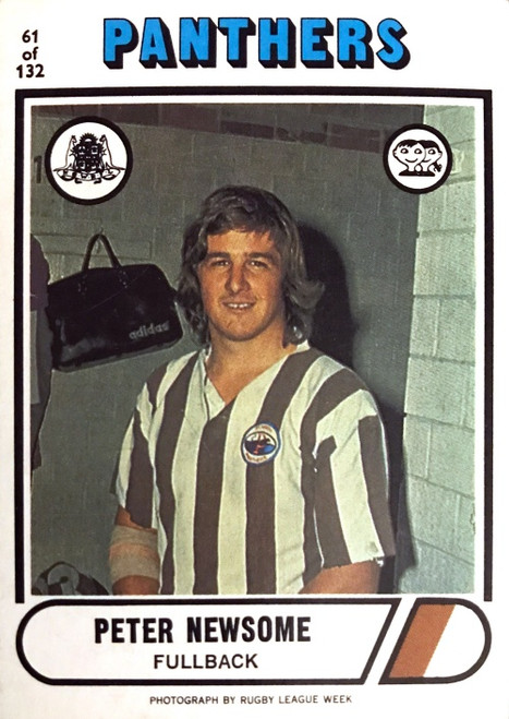 1976 Scanlens #61 PETER NEWSOME Penrith Panthers Rugby League Cards
