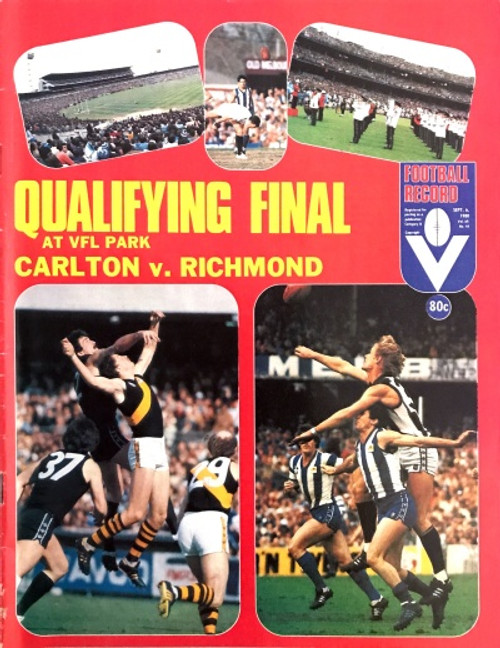 1980 CARLTON V RICHMOND Qualifying Final Football Record