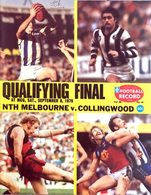 1979 NORTH MELBOURNE V COLLINGWOOD Qualifying Final Football Record