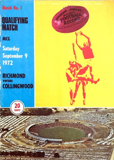 1972 RICHMOND V COLLINGWOOD Qualifying Final Football Record