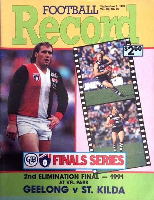 1991 GEELONG V ST KILDA Elimination Final Football Record