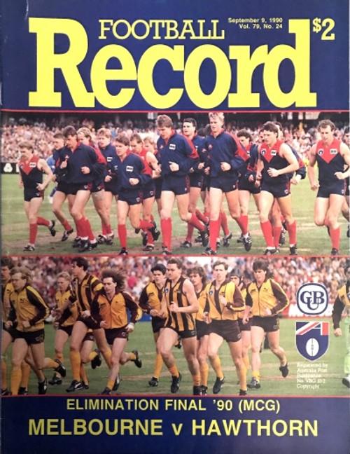 1990 MELBOURNE V HAWTHORN Elimination Final Football Record