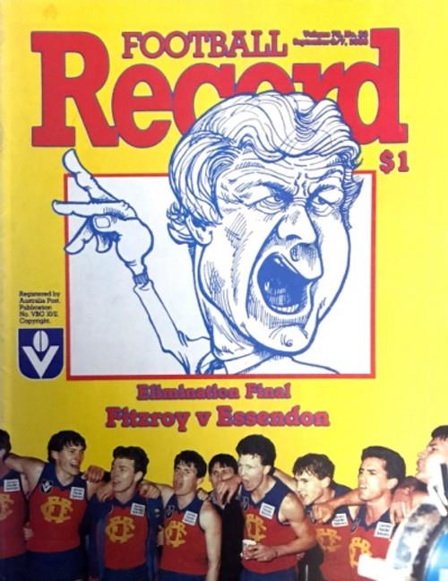1986 FITZROY V ESSENDON Elimination Final Football Record