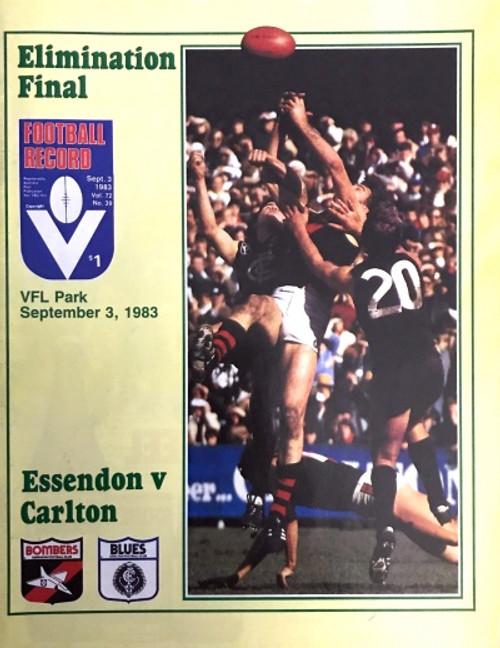 1983 ESSENDON V CARLTON Elimination Final Football Record