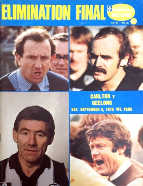 1978 CARLTON V GEELONG Elimination Final Football Record