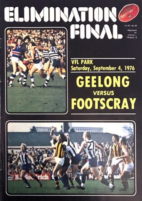 1976 GEELONG V FOOTSCRAY Elimination Final Football Record