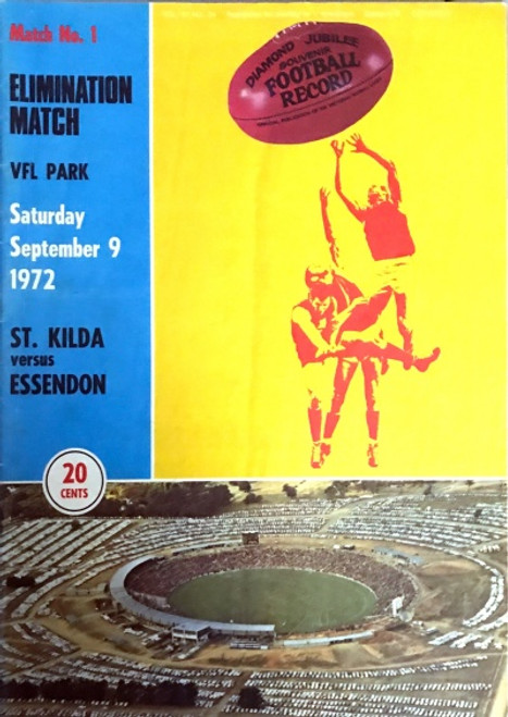 1972 ST KILDA V ESSENDON Elimination Final Football Record