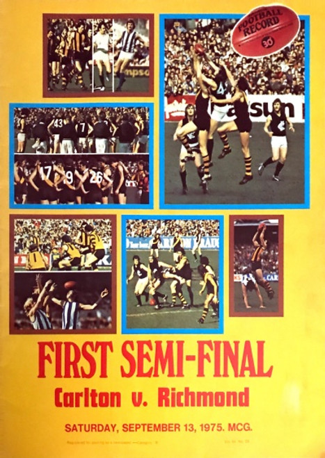 1975 CARLTON V RICHMOND 1ST Semi Final Football Record