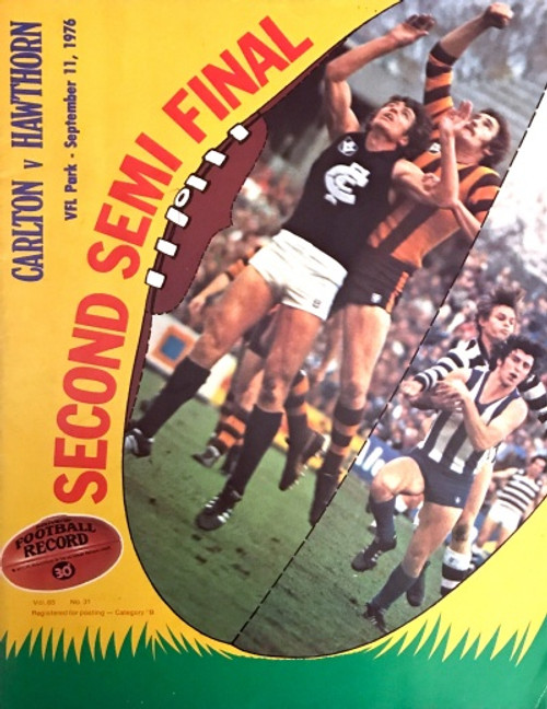 1976 CARLTON V HAWTHORN 2ND Semi Final Football Record