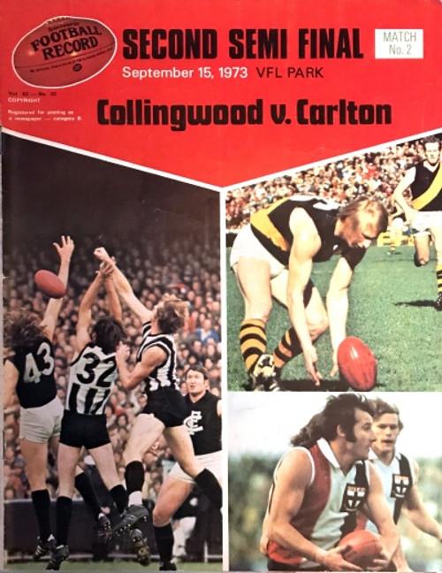 1973 COLLINGWOOD V CARLTON 2ND Semi Final Record