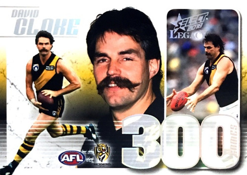 2019 AFL Legacy DAVID CLOKE Richmond Tigers 300 Game Case Card