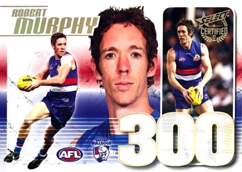 2017 AFL Certified 17 ROBERT MURPHY Western Bulldogs 300 Game Case Card
