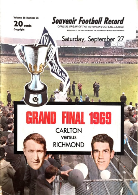 1969 CARLTON V RICHMOND Grand Final Football Record