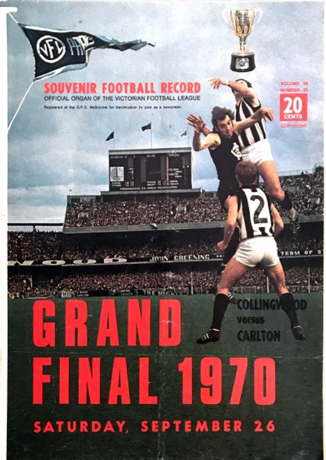 1970 CARLTON V COLLINGWOOD Grand Final Football Record