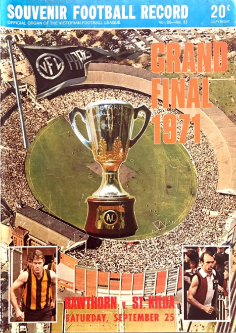 1971 HAWTHORN V ST KILDA Grand Final Football Record