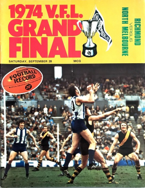 1974 RICHMOND V NORTH MELBOURNE Grand Final Football Record