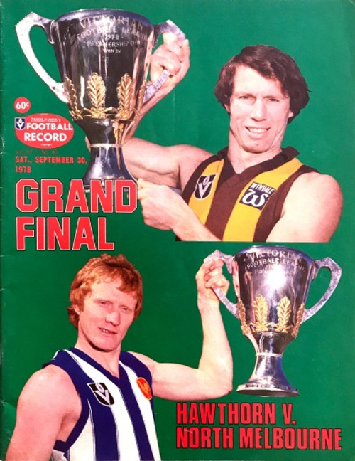 1978 HAWTHORN V NORTH MELBOURNE Grand Final Football Record