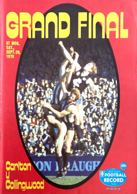 1979 CARLTON V COLLINGWOOD Grand Final Football Record