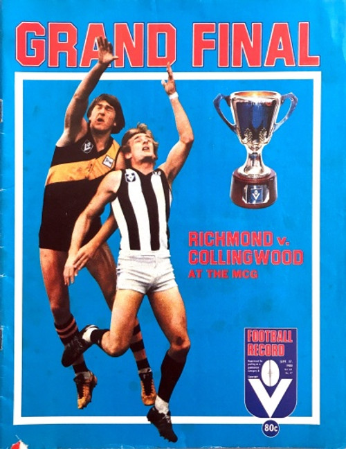 1980 RICHMOND V COLLINGWOOD Grand Final Football Record