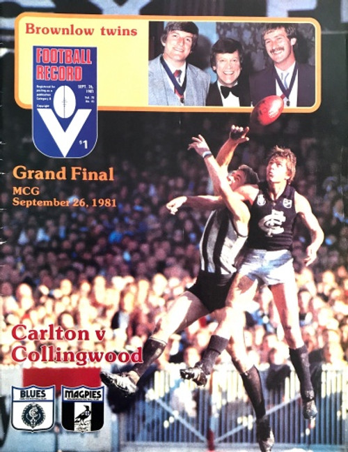 1981 CARLTON V COLLINGWOOD Grand Final Football Record