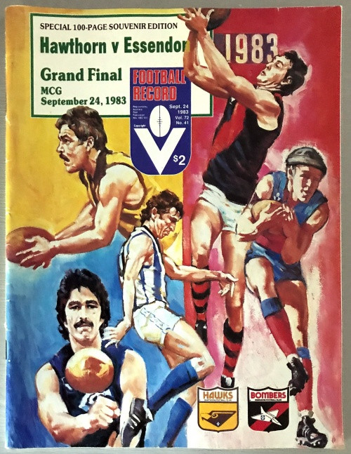 1983 HAWTHORN V ESSENDON Grand Final Football Record
