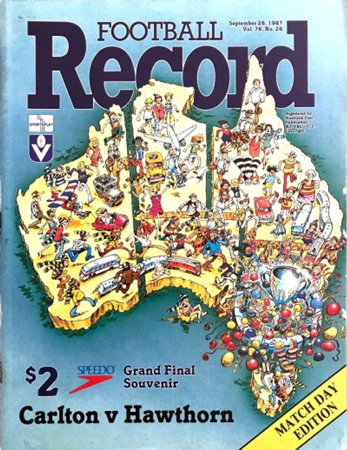 1987 CARLTON V HAWTHORN Grand Final Football Record