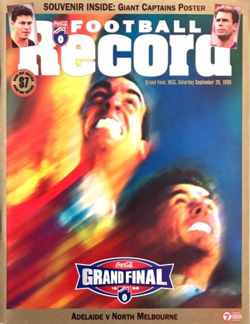1998 ADELAIDE V NORTH MELBOURNE Grand Final Football Record