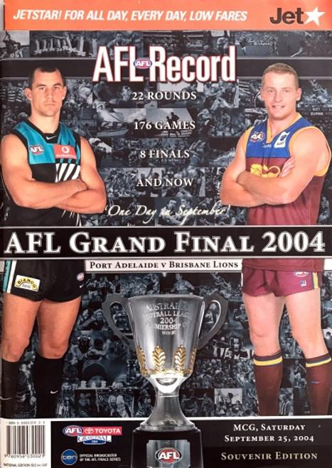 2004 PORT ADELAIDE V BRISBANE Grand Final Football Record