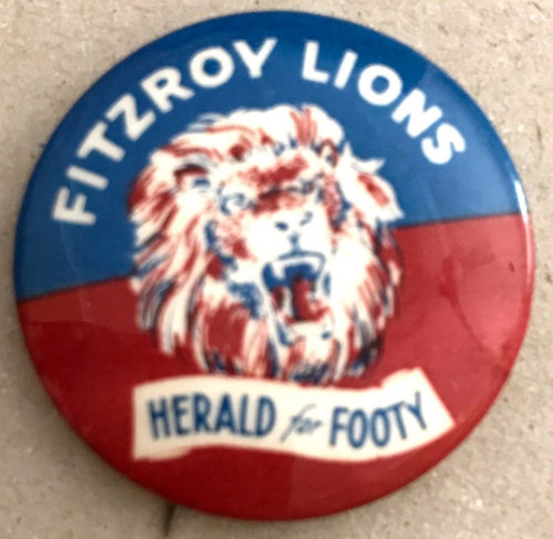 1962 Herald For Footy FITZROY LIONS Badge