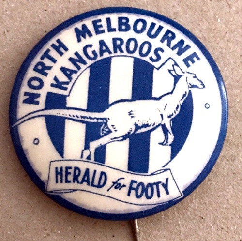 1962 Herald For Footy NORTH MELBOURNE KANGAROOS Badge