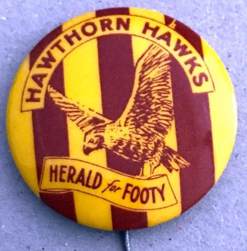 1962 Herald For Footy HAWTHORN HAWKS Badge