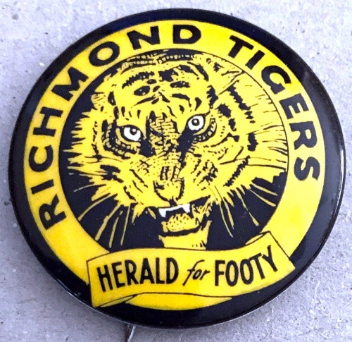 1962 Herald For Footy RICHMOND TIGERS Badge