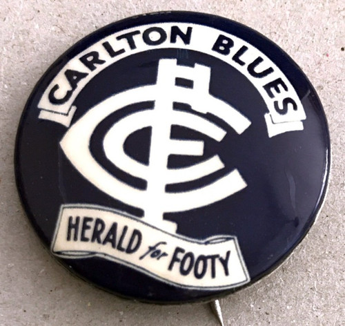 1962 Herald For Footy CARLTON BLUES Badge