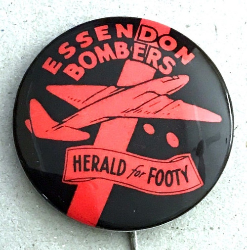 1962 Herald For Footy ESSENDON BOMBERS Badge