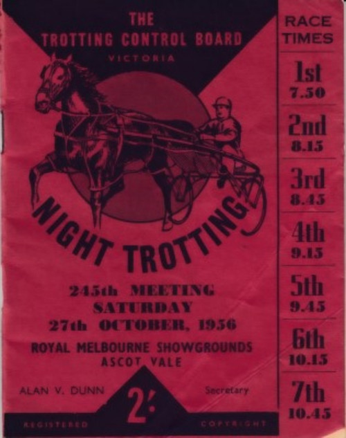 ROYAL MELBOURNE SHOWGROUNDS saturday 27th AUGUST 1956