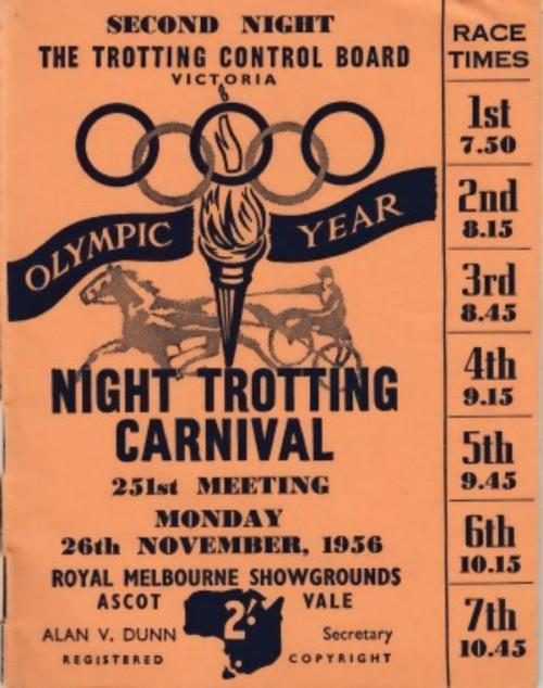 ROYAL MELBOURNE SHOWGROUNDS MONDAY 26th NOVEMBER 1956 RACEBOOK