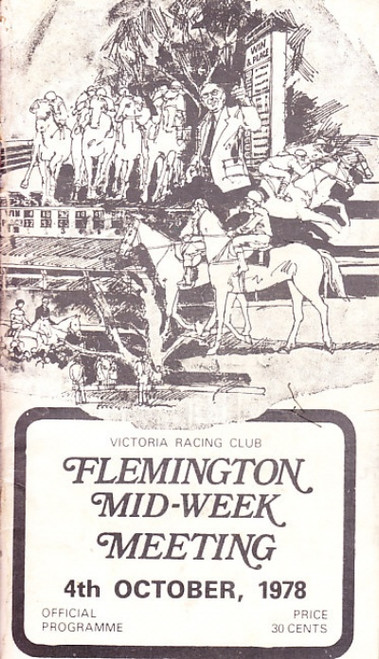 FLEMINGTON MID-WEEK MEETING 4th OCTOBER 1978 RACEBOOK