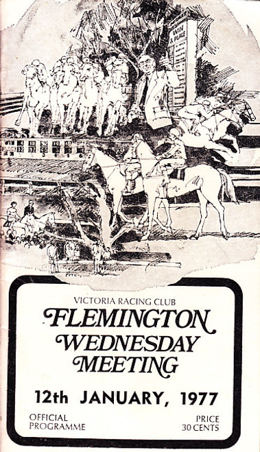 FLEMINGTON WEDNESDAY MEETING 12th JANUARY 1977 RACEBOOK