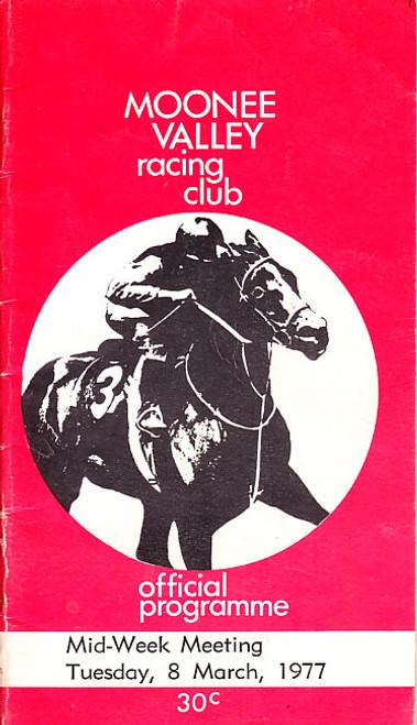 MOONEE VALLEY RACING CLUB MID-WEEK MEETING TUESDAY 8th MARCH 1977 RACEBOOK