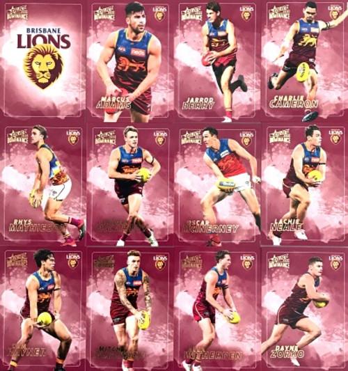 2020 AFL SELECT DOMINANCE BRISBANE LIONS BASE TEAM SET