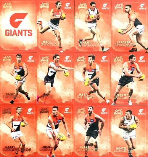 2020 AFL SELECT DOMINANCE GREATER WESTERN SYDNEY GIANTS BASE TEAM SET