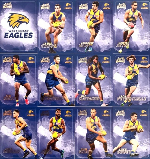 2020 AFL SELECT DOMINANCE WEST COAST EAGLES BASE TEAM SET
