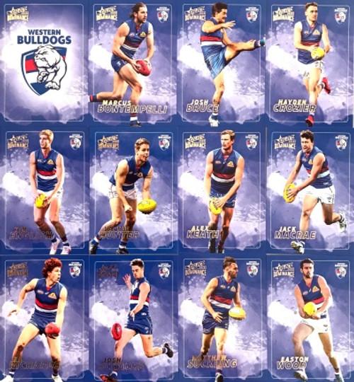 2020 AFL SELECT DOMINANCE WESTERN BULLDOGS BASE TEAM SET