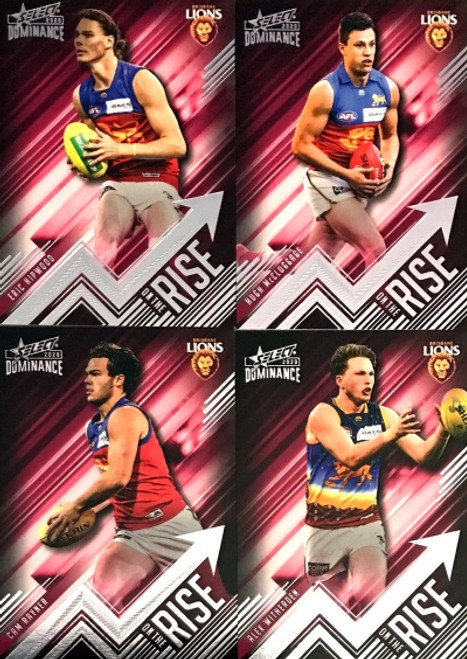 2020 AFL SELECT DOMINANCE BRISBANE LIONS ON THE RISE SET FEATURING: