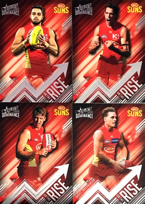 2020 AFL SELECT DOMINANCE GOLD COAST SUNS ON THE RISE SET