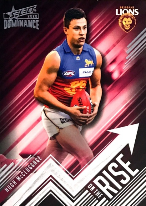 2020 AFL SELECT DOMINANCE HUGH McCLUGGAGE ON THE RISE CARD