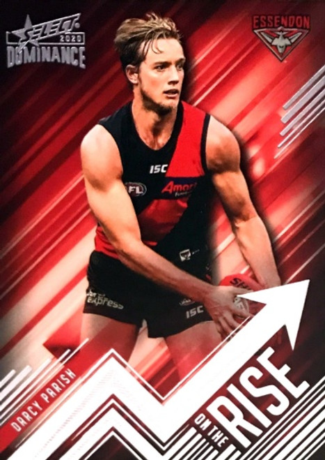 2020 AFL SELECT DOMINANCE DARCY PARISH ESSENDON BOMBERS ON THE RISE CARD